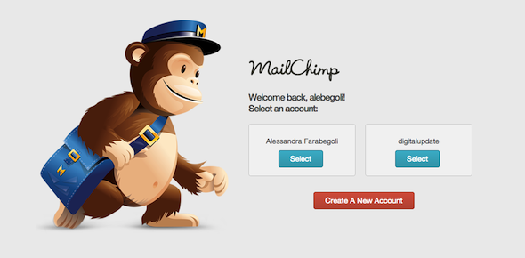 Select an Account MailChimp
