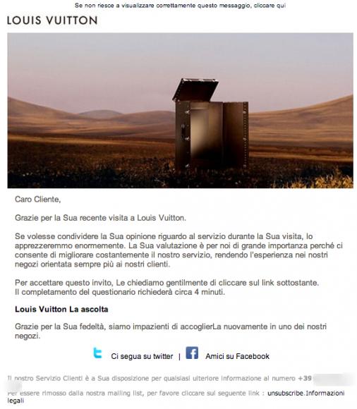 Dopo la Sua visita Louis Vuitton