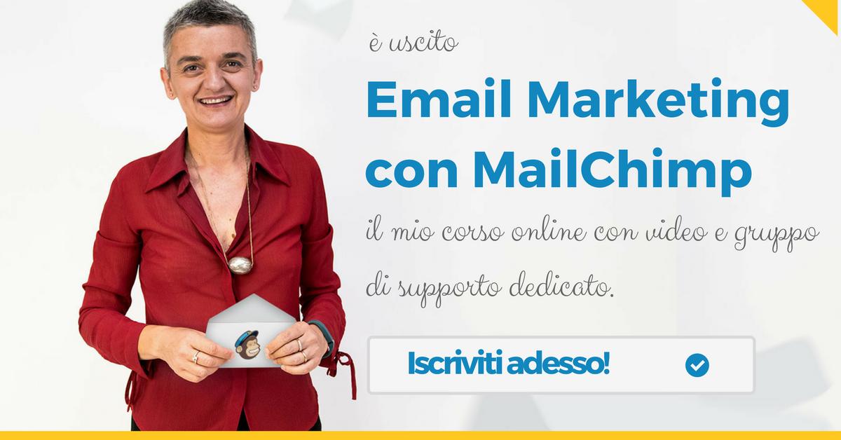 È uscito il mio corso online su MailChimp
