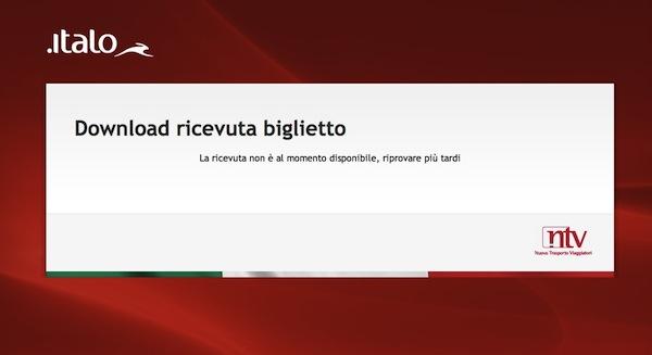FATTURA ITALO TRENO SCARICA